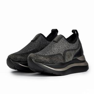 Pantofi sport de dama Wellspring negre 2