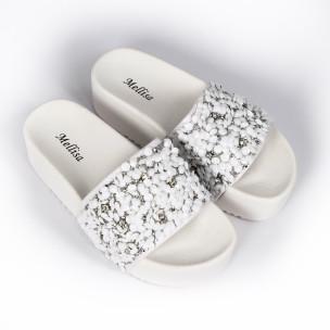 Papuci de dama Mellisa albi 2