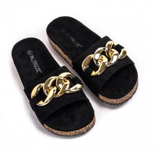 Papuci de dama Bestelle negri 2