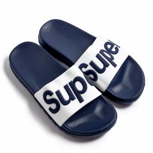 Papuci bărbați Super albaștri