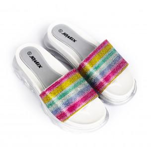 Papuci de dama Jomix curcubeu 2