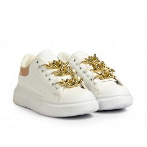 Teniși înalți de dama Fashion&Bella albe 2