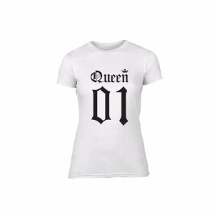 Tricou de dama King 01 & Queen 01alb, mărimea M 2
