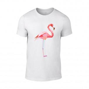 Tricou pentru barbati Flamingo alb