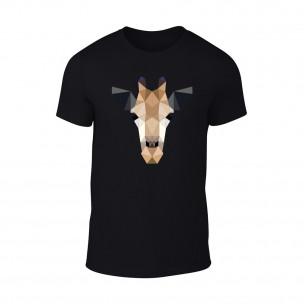 Tricou pentru barbati Giraffe negru