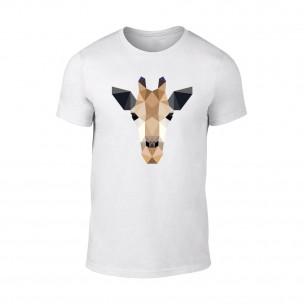 Tricou pentru barbati Giraffe alb