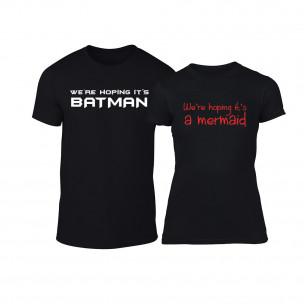 Tricouri pentru cupluri We are hoping negru TEEMAN