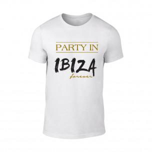 Tricou pentru barbati Ibiza alb, mărimea S TEEMAN