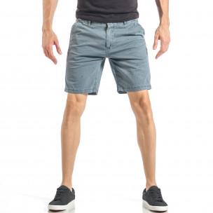Pantaloni scurți pentru bărbați albaștri cu puncte