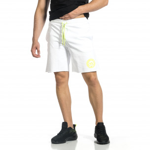 Pantaloni scurți bărbați Breezy albi