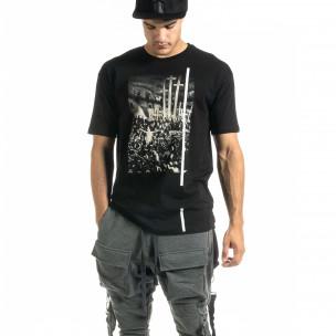 Tricou bărbați Black Island negru