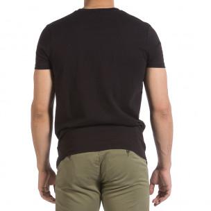 Tricou bărbați Hey Boy negru 2