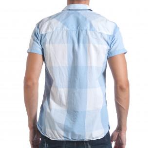 Cămașă cu mânecă scurtă bărbați CROPP albastră  2