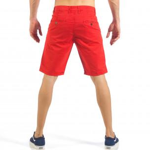Pantaloni scurți de bărbați roșii cu buzunare italiene 2