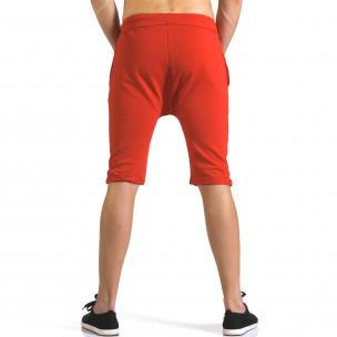 Pantaloni scurți bărbați ChRoy roșii  2