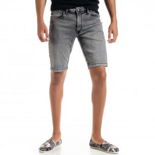Blugi scurți bărbați gri Big Size Basic