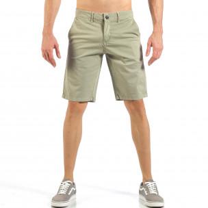 Pantaloni scurți de bărbați bej cu buzunare italiene