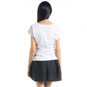 Tricou alb de dama cu imprimeu  2