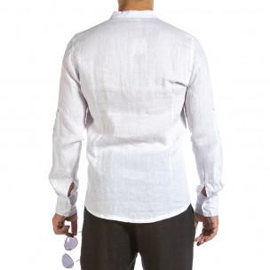 Cămașă cu mânecă lungă bărbați Duca Fashion albă 2