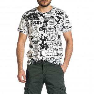 Tricou bărbați Made in Italy negru  2