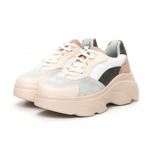 Pantofi sport voluminoși de dama în culori pastelate Seastar 2