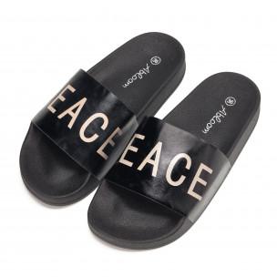 Papuci de dama negri PEACE 2