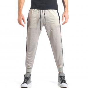 Pantaloni sport bărbați Bread & Buttons gri  2
