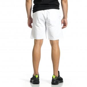 Pantaloni scurți bărbați Breezy albi  2