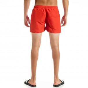Costume de baie bărbați Basic roșu  2