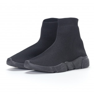 Adidași slip-on de bărbați negri All-black  2
