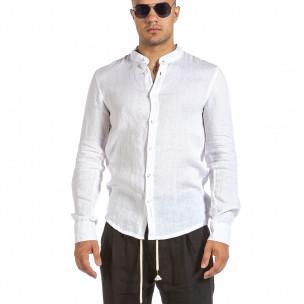 Cămașă cu mânecă lungă bărbați Duca Fashion albă