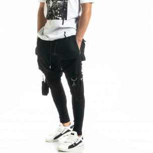 Pantaloni bărbați Black Island negri