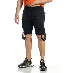 Pantaloni scurți bărbați Yes Design negri