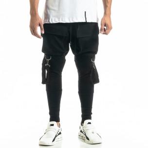 Pantaloni bărbați Black Island negri 2