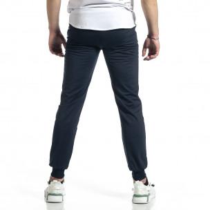 Pantaloni sport bărbați Feel albastru  2