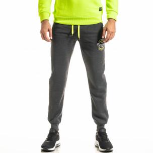Pantaloni sport bărbați Nice gri  2