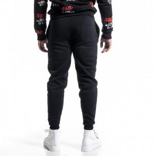 Pantaloni sport bărbați Sweet Years negru  2