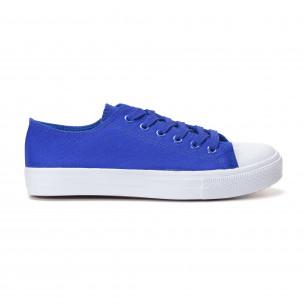 Teniși albaștri cu talpă albă pentru bărbați  2