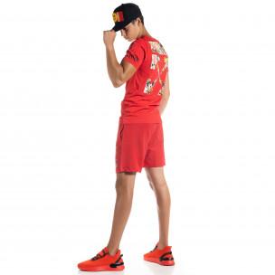 Set sportiv roșu pentru bărbați Naruto