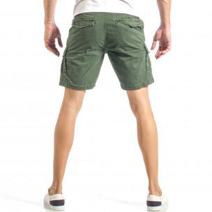 Pantaloni cargo scurți de bărbați verzi cu o imprimare mică 2
