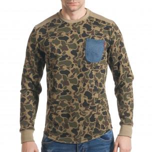 Bluză bărbați Bread & Buttons camuflaj