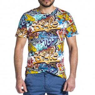 Tricou bărbați Made in Italy curcubeu 2
