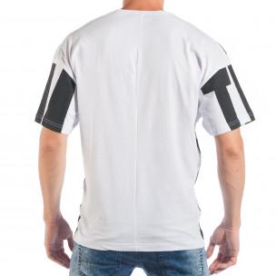 Tricou pentru bărbați în negru și alb  2