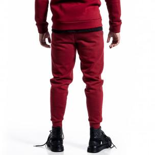 Pantaloni sport bărbați Alkimia roșu  2