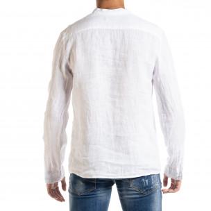 Cămașă cu mânecă lungă bărbați Duca Homme albă  2