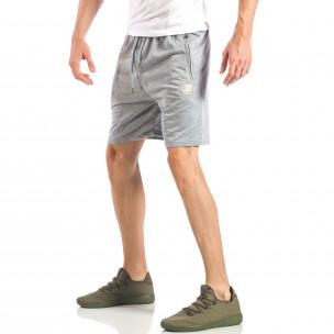 Pantaloni scurți pentru bărbați gri cu logo MA 2