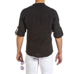 Cămașă cu mânecă lungă bărbați Duca Fashion neagră 2