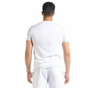 Tricou bărbați North's alb 2