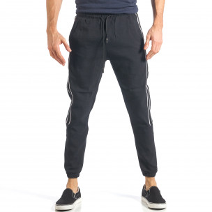 Pantaloni sport bărbați Giorgio Man negru  2
