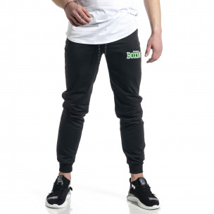 Pantaloni sport bărbați Feel negru